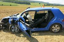 Nehoda mladé řidičky u Vícova, 26.8.2021