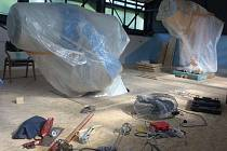 Pozorovatelnu na prostějovské hvězdárně uzavřely stavební práce. Pracovníci zvyšují podlahu, do které zapustí nový dalekohled
