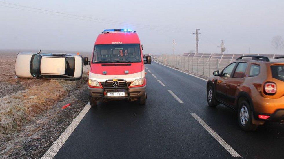 Následky dopravní nehody u Výšovic