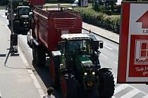 Protest zemědělců v centru Prostějova