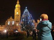 Rozsvěcení vánočního stromu na náměstí TGM v Prostějově