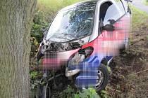 Nehoda mezi Runářovem a Lhotou u Konice skončila těžkým zraněním řidičky