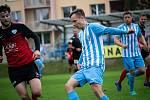 Fotbalisté Prostějova (v modrobílém) porazili doma Táborsko 2:1.