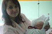 Tobiáš Peka s maminkou Lucií, Prostějov, narozena 30. listopadu v Prostějově, míra 50 cm, váha 3000 g