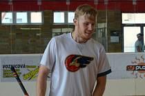 Jiří Hozák na florbalovém turnaji v Prostějově