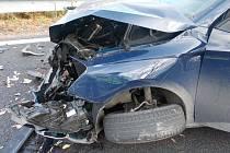 Hned ke dvěma nehodám došlo ve středu v Olšanech u Prostějova. Celková škoda překročila půl milionu korun.