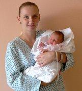 Lenka Kuchařová s maminkou Janou, Prostějov, narozena 10. srpna, 49 cm, 3300 g