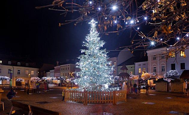 Vánoční strom 2020ve Šternberku.