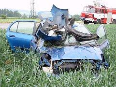Nehoda u Vyšehradu na Konicku