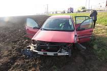Hromadná nehoda čtyř aut na dálnici D46