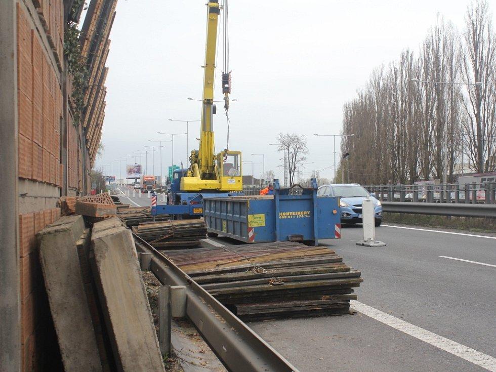 Rekonstrukce protihlukové stěny u D46 v Prostějově