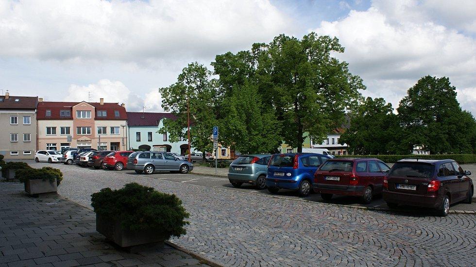 Masarykovo náměstí v Konici -