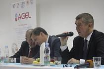 Návštěva ministra financí Andreje Babiše v prostějovské nemocnici