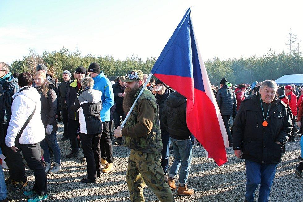 Tradiční novoroční výšlap na Velký Kosíř, se tentokrát vydařil. 1.1. 2020