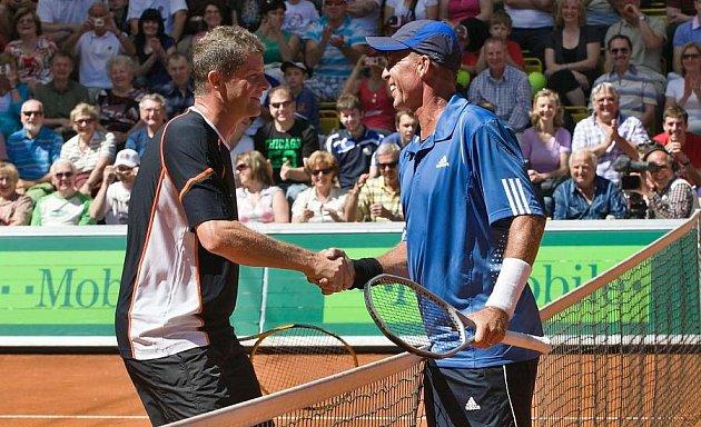 Ivan Lendl a Jiří Novák na prostějovském Czech Open