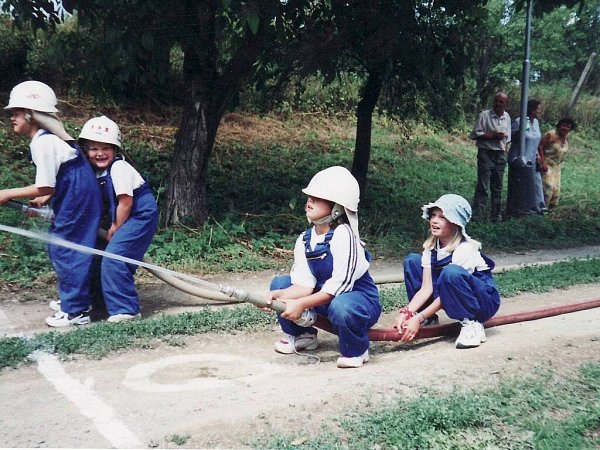 Mladí hasiči zLešan