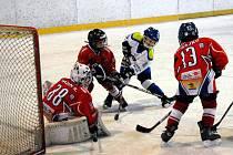 Mladí hokejisté v akci