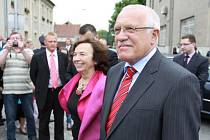 Návštěva prezidentského páru v Němčicích nad Hanou