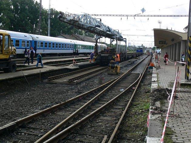 Rekonstrukce na hlavním nádraží v Prostějově