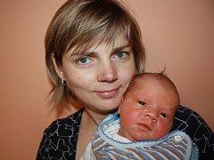Jakub Kolář s maminkou Hanou, Rozstání, narozen 12. února, 52 cm, 3650 g