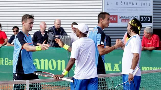 Finále čtyřhry na Czech Open 2013 v Prostějově: Rosol a Kowalczyk vs. Monroe a Stadler