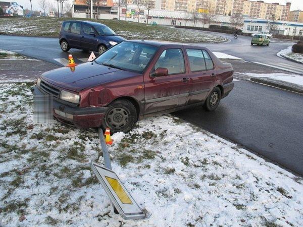 Nehoda venta na kruhovém objezdu spojujícím ulice Plumlovská, J. Lady a Anglická