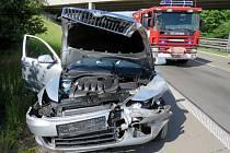 Na dálnici D 46 došlo k další nehodě. Tentokrát nedošlo ke zranění, odnesla to jen svodidla.
