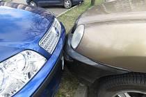 Nehoda při parkování v Plumlovské ulici