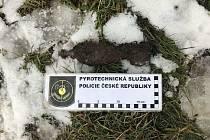 Nález granátu u Klopotovic