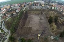 Jezdecká kasárna v Prostějově už jsou minulostí, takto to na jejich místě vypadá teď.