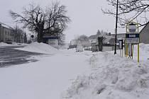 Sněhová nadílka v Drahanech - 3. dubna 2013