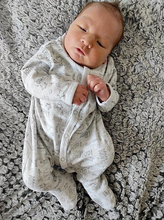 Jakub Hanzl, Přerov, narozen 15. dubna 2021 v Přerově, míra 53 cm, váha 4230 g