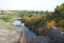 Mostkovice - pohled od výpustě plumlovské přehrady