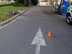 Podnapilý cyklista havaroval na Plumlovské ulici v Prostějově