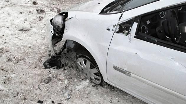 Nehoda renaultu u Brodku u Prostějova