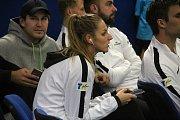 Tenisová extraliga  2018 v Prostějově. Semifinálová skupina, TK Agrofert Prostějov - TK Precheza Přerov (4:5). Kristýna Plíšková (Prostějov)