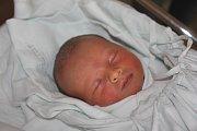 Šimon Hájek, Smržice, narozen 19. října v Prostějově, míra 52 cm, váha 3300 g