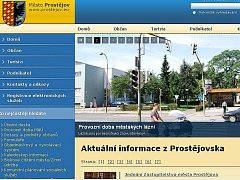 Web prostějovské radnice