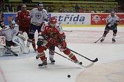 2. kolo WSM Ligy, LHK Jestřábi Prostějov - HC Stadion Litoměřice 1:4 (1:0, 0:1, 0:3). Marek Švec (Prostějov)