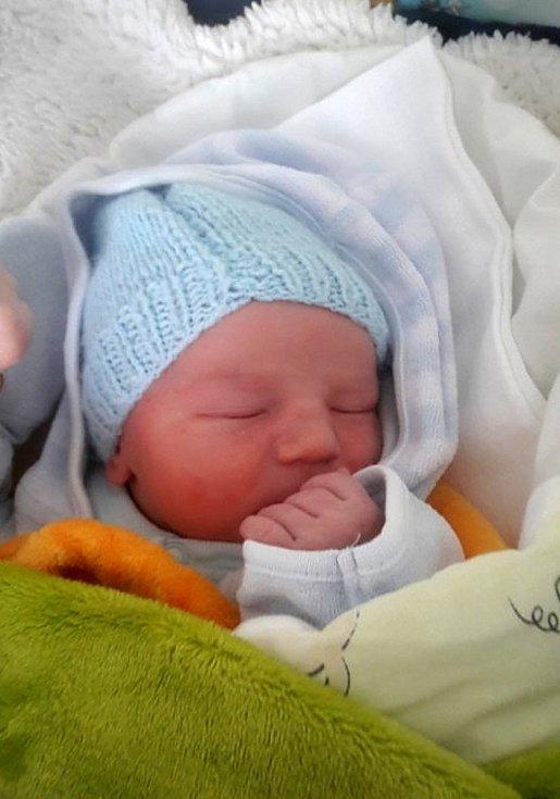 Samuel Karafiát, Olomouc, narozen 26. února 2020, míra 49 cm, váha 3300 g