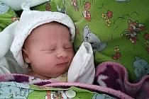 Emma Hodulíková, Šumperk, narozena 23. ledna 2021, míra 47 cm, váha 3065 g