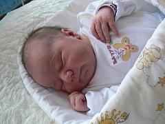 Richard Bábek, Lešany, narozen 13. ledna, 54 cm, 4050 g