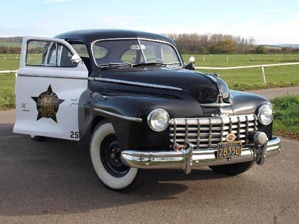 Na akci se objeví ikrásný policejní stroj Dodge (USA) r.v. 1947