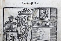 Ilustrace z renesančního štočku na písni ze Škarniclovské tiskárny