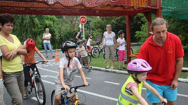 Prostějovské léto vzalo děti na dopravní hřiště