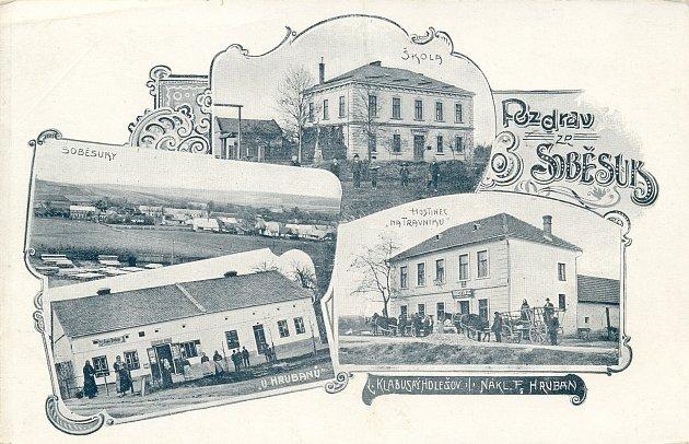 Soběsuky na staré pohlednici