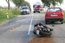 Nehoda motorkáře u Jesence - 19. 9. 2020