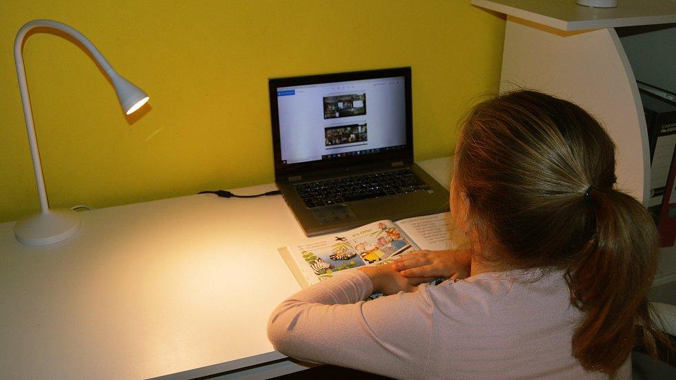 Při on-line výuce