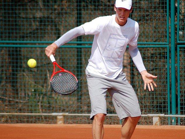 Tomáš Berdych při treninku