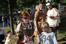 Indiánskou stezkou se prošly děti ve Vrbátkách.